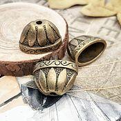 Материалы для творчества handmade. Livemaster - original item End caps 14 x 20 x 12 mm BRONZE (1414). Handmade.