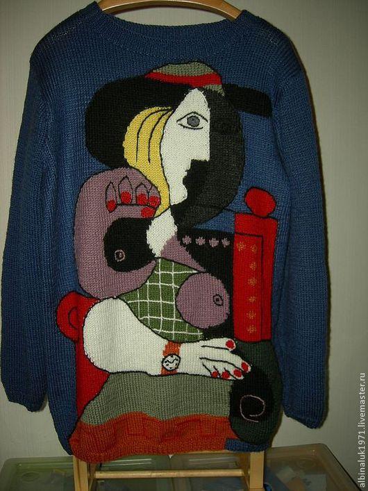 """Кофты и свитера ручной работы. Ярмарка Мастеров - ручная работа. Купить Джемпер Картина Пикассо """"Женщина с часами"""". Handmade."""