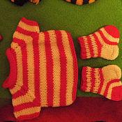 Куклы и игрушки ручной работы. Ярмарка Мастеров - ручная работа Одежда для игрушек в наличии имеются носочки для игрушек разных цветов. Handmade.