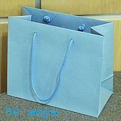 Пакеты ручной работы. Ярмарка Мастеров - ручная работа 21х18х10 - пакеты голубые с ручками веревочными, 50 штук. Handmade.
