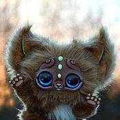 Куклы и игрушки ручной работы. Ярмарка Мастеров - ручная работа Шоколадный кошачий зверек. Handmade.