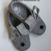 Обувь ручной работы. Ярмарка Мастеров - ручная работа мужские тапки .. Handmade.