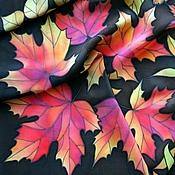 """Аксессуары ручной работы. Ярмарка Мастеров - ручная работа Платок батик """"Осенние листья"""" (2). Handmade."""