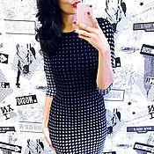 Одежда ручной работы. Ярмарка Мастеров - ручная работа Платье черное орнамент. Handmade.
