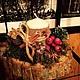 """Новый год 2017 ручной работы. Ярмарка Мастеров - ручная работа. Купить Новогодняя композиция """"Зимний лес"""". Handmade. Новый Год"""