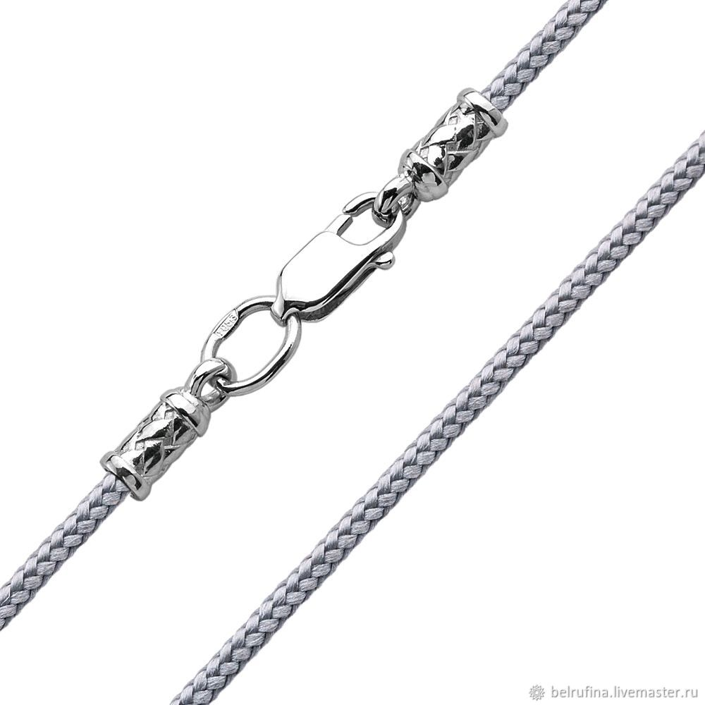 Silver Lace, made of Paracorda thickness 2mm, Necklace, Belgorod,  Фото №1