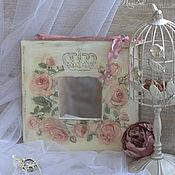 """Для дома и интерьера ручной работы. Ярмарка Мастеров - ручная работа Зеркало """"Королевские розы"""". Handmade."""
