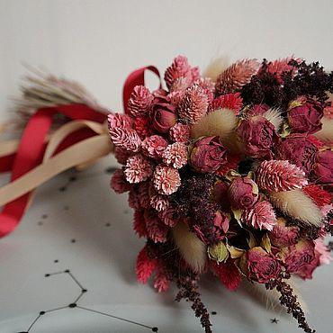 Цветы и флористика ручной работы. Ярмарка Мастеров - ручная работа Цветы: Букет из сухоцветов. Handmade.