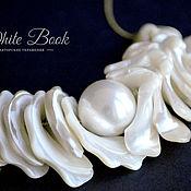 Украшения handmade. Livemaster - original item Necklace with artificial pearls and Majorica pearl. Handmade.
