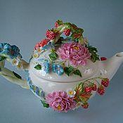 Посуда ручной работы. Ярмарка Мастеров - ручная работа Чайник Сладка-ягода. Handmade.