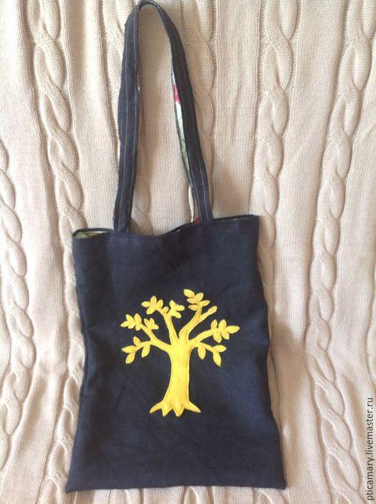 Женские сумки ручной работы. Ярмарка Мастеров - ручная работа. Купить Сумка-майка на подкладке. Handmade. Черный, лён хлопок
