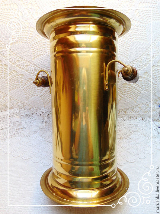 Винтажные предметы интерьера. Ярмарка Мастеров - ручная работа. Купить Винтажная латунная зонтовница или напольная ваза, Австрия. Handmade.