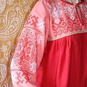 Русский стиль ручной работы. Ярмарка Мастеров - ручная работа платье с вышивкой обережное. Handmade.