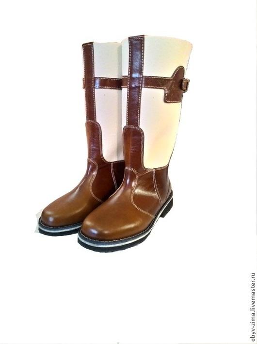 Обувь ручной работы. Ярмарка Мастеров - ручная работа. Купить Бурки Маршал рыжие. Handmade. Белый, теплый, чепрак