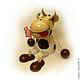 Игрушка Коровка на пружинке