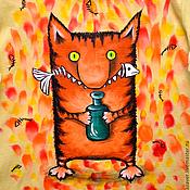 """Одежда ручной работы. Ярмарка Мастеров - ручная работа Футболка """"Кошачья радость"""". Handmade."""