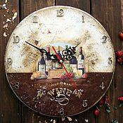 Для дома и интерьера ручной работы. Ярмарка Мастеров - ручная работа Часы WINE. Handmade.