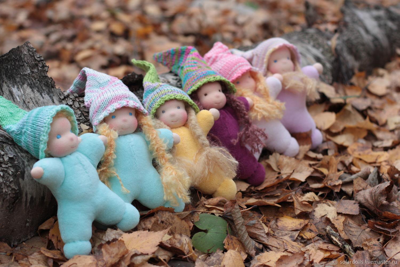 Вальдорфские куклы Гномики и Феечки 15-17 см, Вальдорфские куклы и звери, Москва,  Фото №1