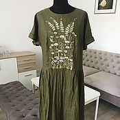 Одежда handmade. Livemaster - original item Linen sundress with hand embroidery