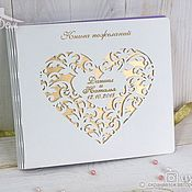 Свадебный салон handmade. Livemaster - original item Guest book with wooden cover