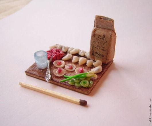 Еда ручной работы. Ярмарка Мастеров - ручная работа. Купить Пельмени из полимерной глины. Handmade. Бежевый, еда, еда из пластики