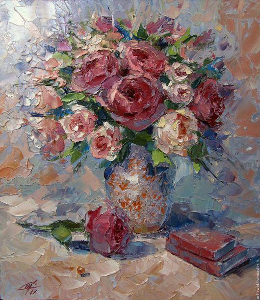 Картины цветов ручной работы. Ярмарка Мастеров - ручная работа. Купить Романтичное настроение. Handmade. Кремовый, авторский стиль