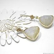 Украшения handmade. Livemaster - original item Earrings silver 925 with moonstone. Handmade.