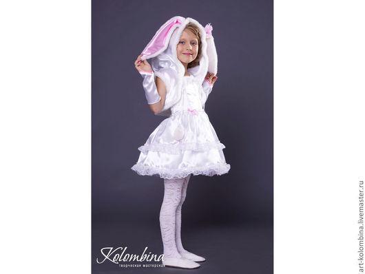 Детские карнавальные костюмы ручной работы. Ярмарка Мастеров - ручная работа. Купить костюм зайчика. Handmade. Белый, карнавальный костюм