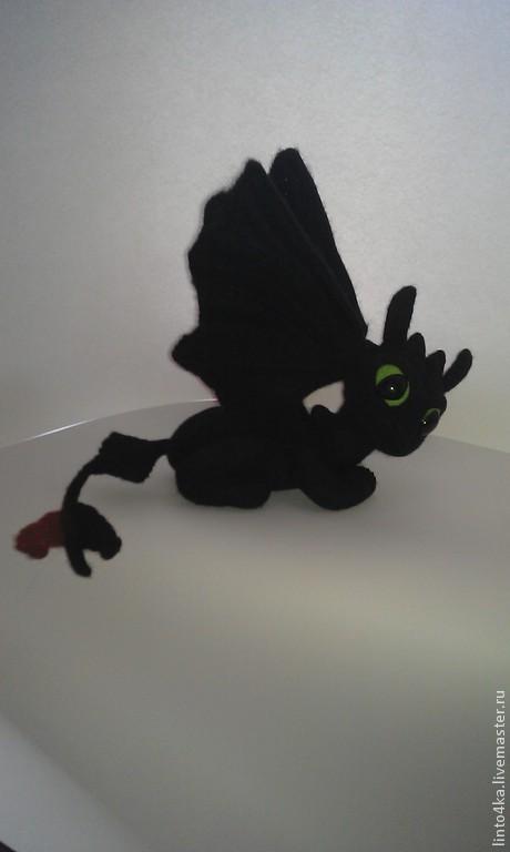 """Игрушки животные, ручной работы. Ярмарка Мастеров - ручная работа. Купить Интерьерная игрушка """"Беззубик"""". Handmade. Черный, войлочная игрушка"""