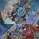 Юбки ручной работы. ожидание весны. Ирина Когут. Ярмарка Мастеров. Павловопосадский платок, вышивка ручная, Аппликация, роспись по ткани