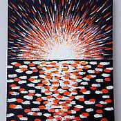 Картины ручной работы. Ярмарка Мастеров - ручная работа Картины: Солнце для Вашего дома. Акриловая энергетическая живопись. Handmade.