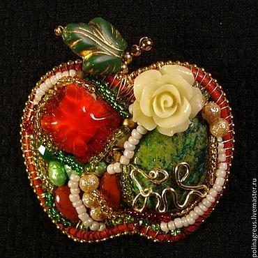 Украшения ручной работы. Ярмарка Мастеров - ручная работа Брошь Райское яблочко. Handmade.