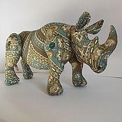 """Куклы и игрушки ручной работы. Ярмарка Мастеров - ручная работа Игрушка """"Носорог"""". Handmade."""