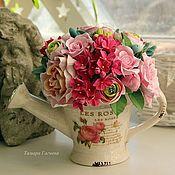 """Цветы и флористика ручной работы. Ярмарка Мастеров - ручная работа Лейка в стиле """"Шебби"""". Handmade."""