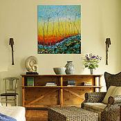 """Картины и панно ручной работы. Ярмарка Мастеров - ручная работа """"После лета"""" 90х80 см картина маслом мастихином на холсте. Handmade."""