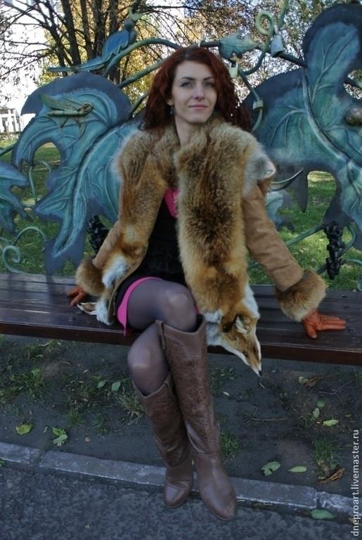 Верхняя одежда ручной работы. Ярмарка Мастеров - ручная работа. Купить Куртка зимняя,трансформер из замши с мехом лисы. Handmade.