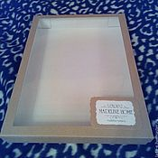 Материалы для творчества handmade. Livemaster - original item Box of cardboard with window and logo. Handmade.