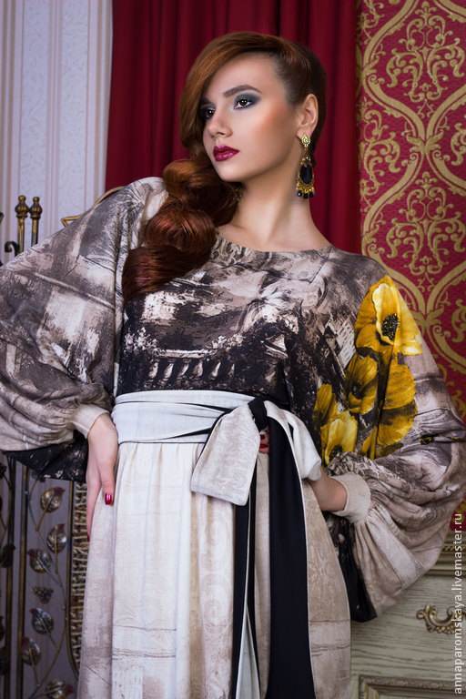 Платья ручной работы. Ярмарка Мастеров - ручная работа. Купить Платье. Handmade. Разноцветный, платье с поясом
