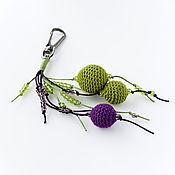 Аксессуары ручной работы. Ярмарка Мастеров - ручная работа Брелок Осень в Провансе зеленый фиолетовый. Handmade.