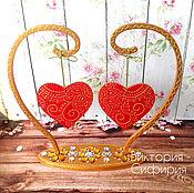 """Подарки к праздникам ручной работы. Ярмарка Мастеров - ручная работа """"Два сердца бьются вместе"""". Handmade."""