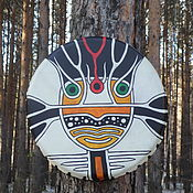 Музыкальные инструменты handmade. Livemaster - original item Okunevskaya mask. Drum leather. 25 cm.. Handmade.