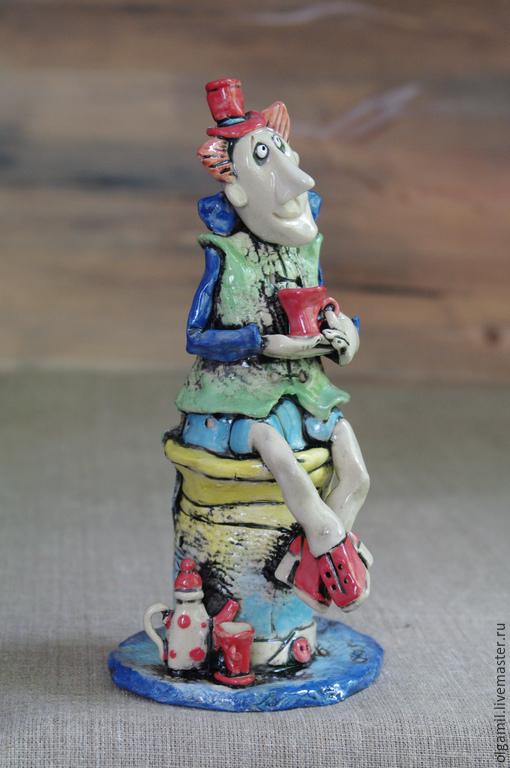 Куклы и игрушки ручной работы. Ярмарка Мастеров - ручная работа. Купить Шляпник керамика. Handmade. Разноцветный, статуэтка, ручная лепка