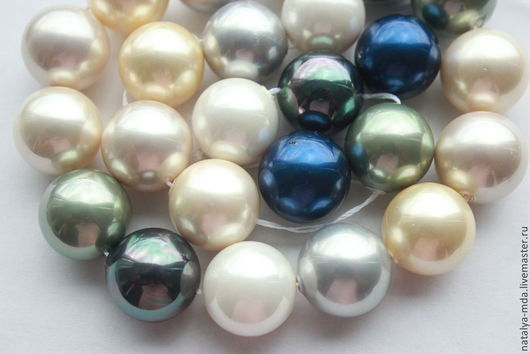 Для украшений ручной работы. Ярмарка Мастеров - ручная работа. Купить Бусины жемчуга Shell Pearl 18мм. Handmade.