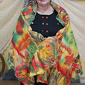 """Аксессуары ручной работы. Ярмарка Мастеров - ручная работа Палантин валяный-""""Осень золотая"""". Handmade."""