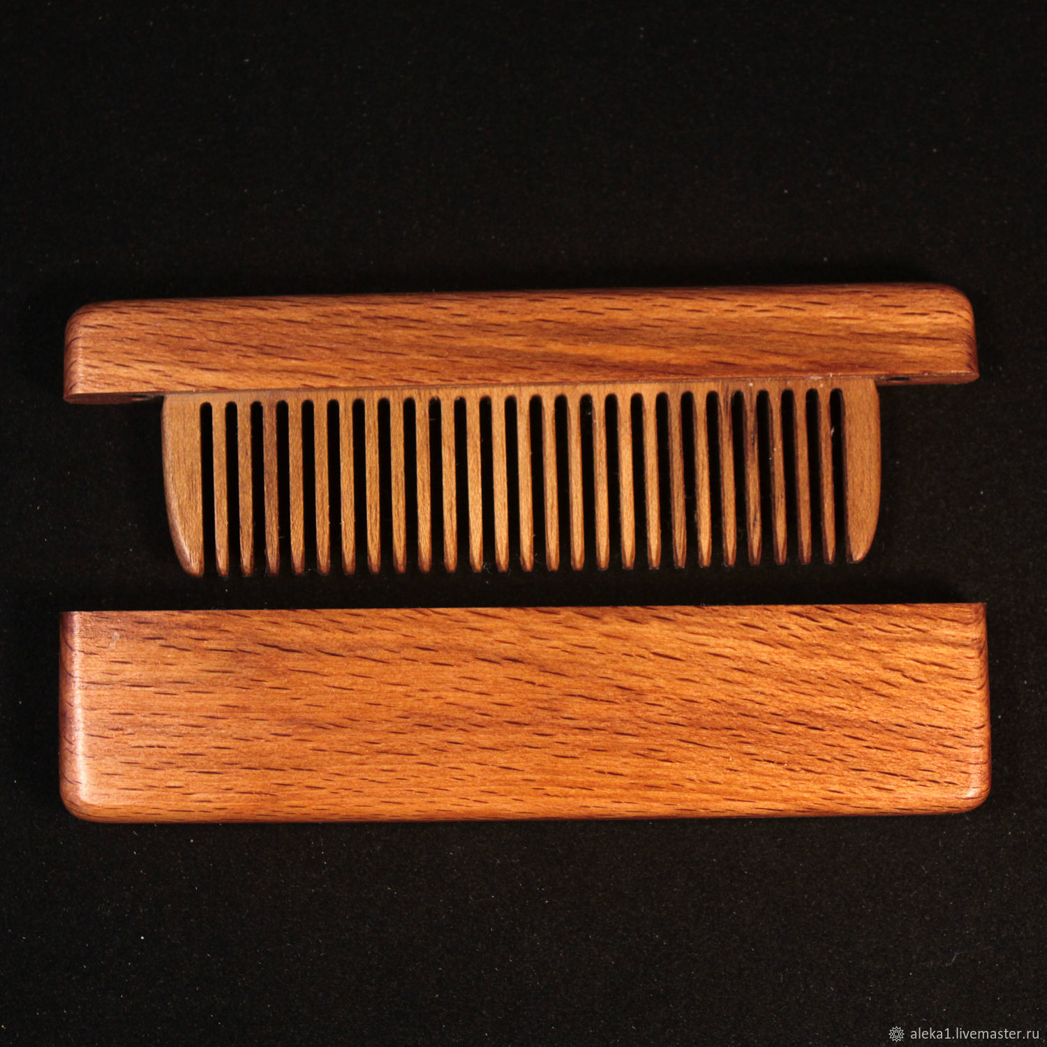 Comb in the case of mahogany and burl walnut, Combs, Nakhabino,  Фото №1