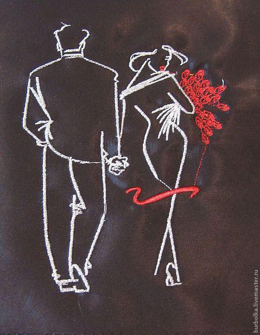 """Люди, ручной работы. Ярмарка Мастеров - ручная работа. Купить Вышитые  контурные картины """" Влюбленные пары"""". Handmade."""