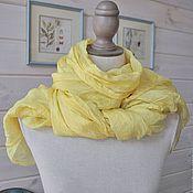 """Аксессуары ручной работы. Ярмарка Мастеров - ручная работа шелковый шарф, парео, палантин  """"Пижма"""". Handmade."""