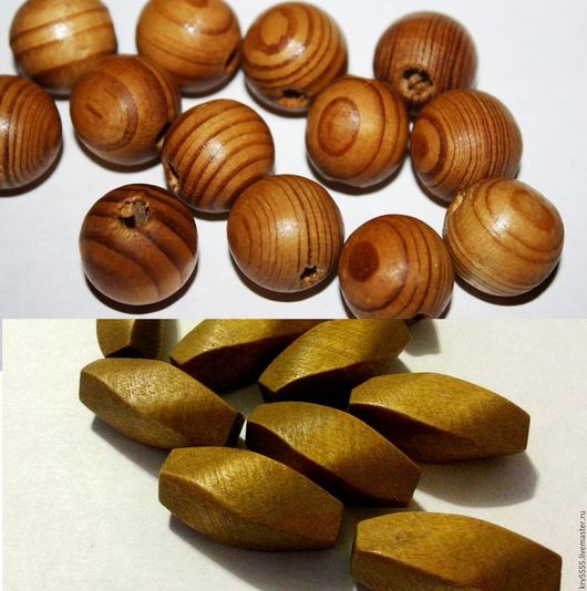 Для украшений ручной работы. Ярмарка Мастеров - ручная работа. Купить Дерево шар натур.цвет, крученая оливка. Handmade.