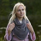Аксессуары handmade. Livemaster - original item Bacchus: Knitted scarf shawl Bacchus Angora. Handmade.