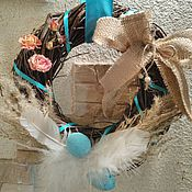 Подарки к праздникам ручной работы. Ярмарка Мастеров - ручная работа Пасхальный венок. Handmade.
